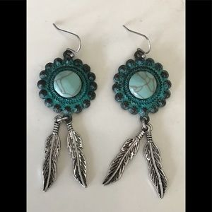 Authentic Native American made earrings.